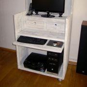 Steigerhouten-computerkast